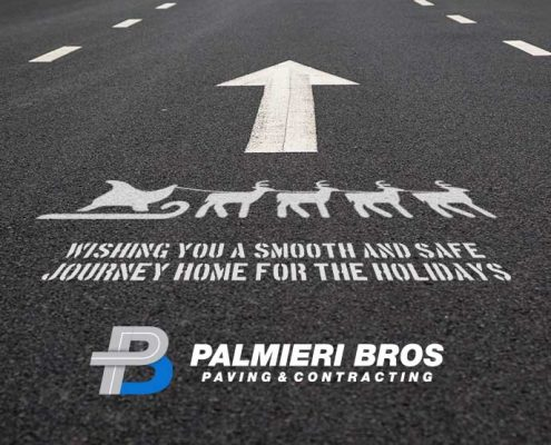 Wishing you a smooth journey home for the holidays! Palmieri Bros. Paving